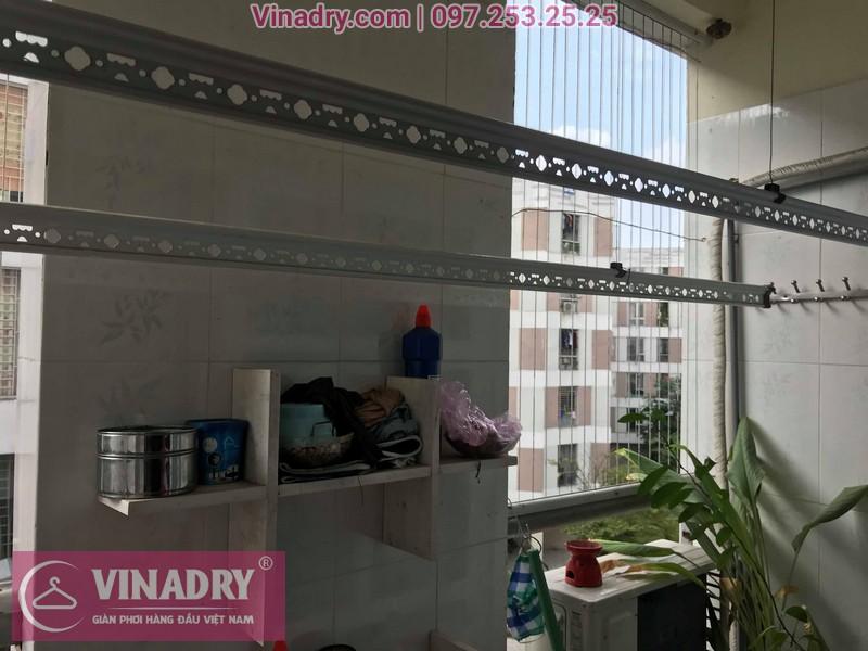 Vinadry lắp giàn phơi giá rẻ HP999B tại KĐT Đặng Xá, Gia Lâm cho gia đình chị Tâm - 01