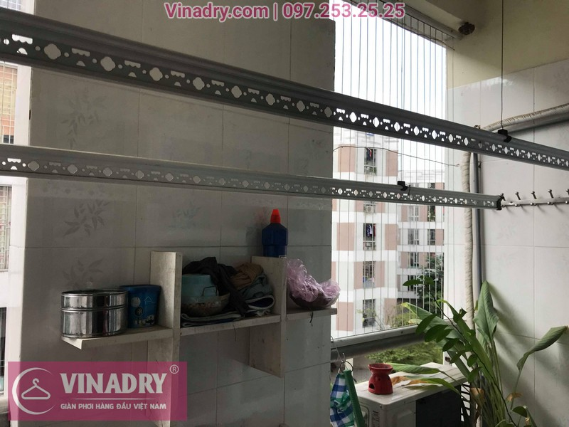 Vinadry lắp giàn phơi giá rẻ HP999B tại KĐT Đặng Xá, Gia Lâm cho gia đình chị Tâm - 09