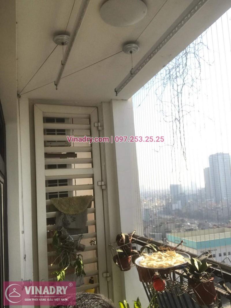 Vinadry lắp giàn phơi giá rẻ KS950 cho nhà chị Tú ở Royal City