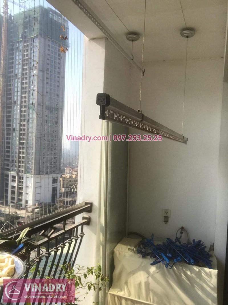 Vinadry lắp giàn phơi giá rẻ KS950 cho nhà chị Tú ở Royal City - 06