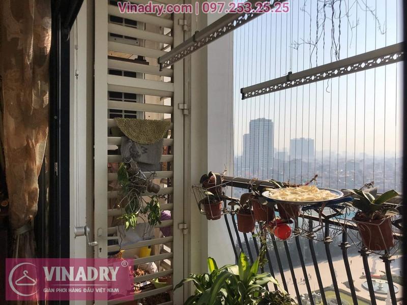 Vinadry lắp giàn phơi giá rẻ KS950 cho nhà chị Tú ở Royal City - 10