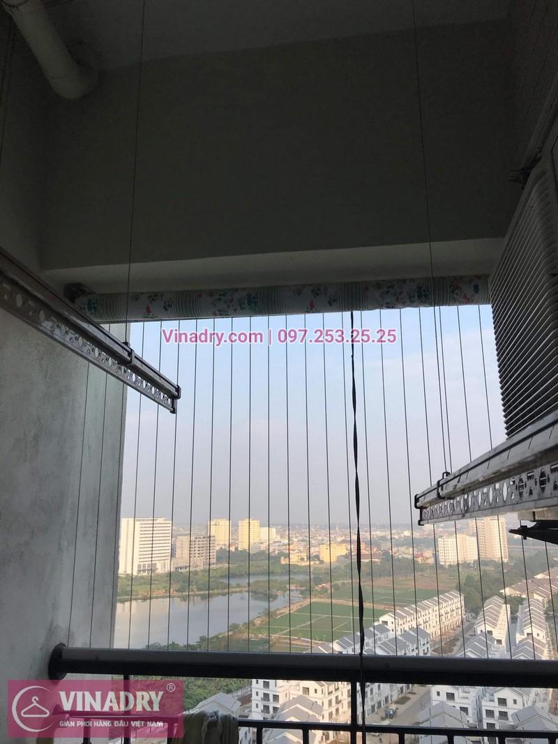 Viadry lắp lưới an toàn ban công tại Hoàng Mai cho nhà anh Tiên, chung cư Gelexia Riverside, 885 Tam Trinh - 01