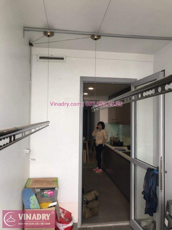 Vinadry lắp giàn phơi Hòa Phát HP999B tại chung cư Imperial Thanh Xuân cho nhà anh Tâm