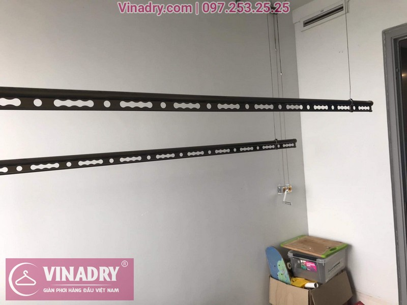Vinadry lắp giàn phơi Hòa Phát HP999B tại chung cư Imperial Thanh Xuân cho nhà anh Tâm - 01