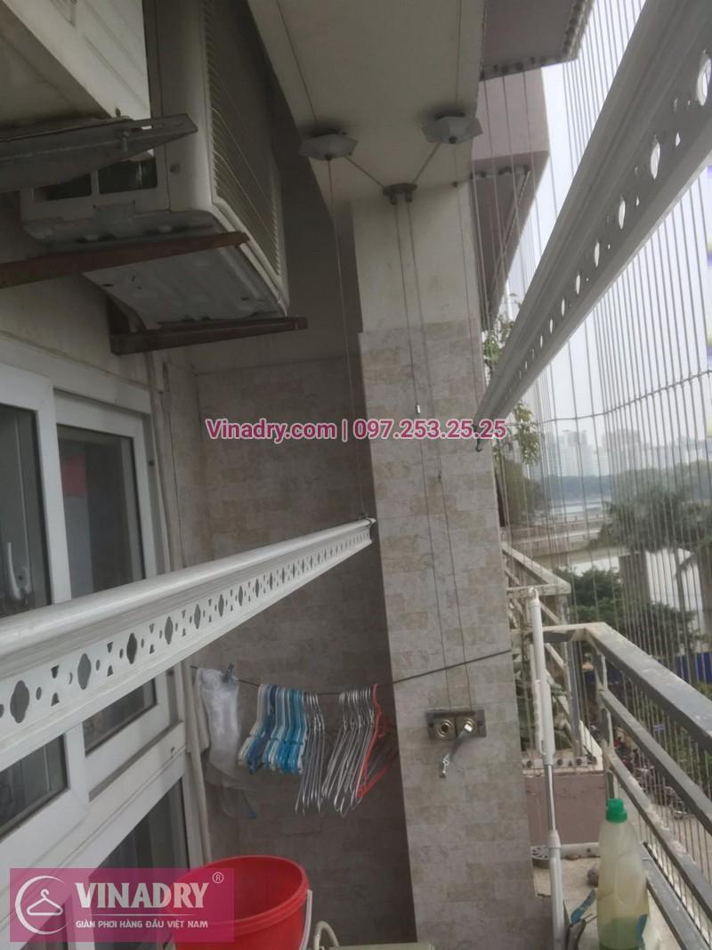 Vinadry lắp giàn phơi HP999B và thi công lưới an toàn ban công tại Linh Đàm cho nhà chú Vi - 01