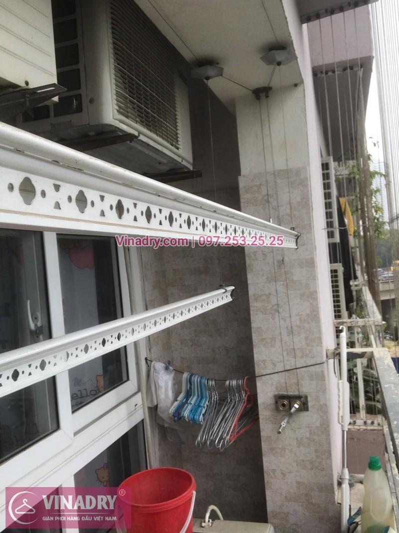 Vinadry lắp giàn phơi HP999B và thi công lưới an toàn ban công tại Linh Đàm cho nhà chú Vi - 05