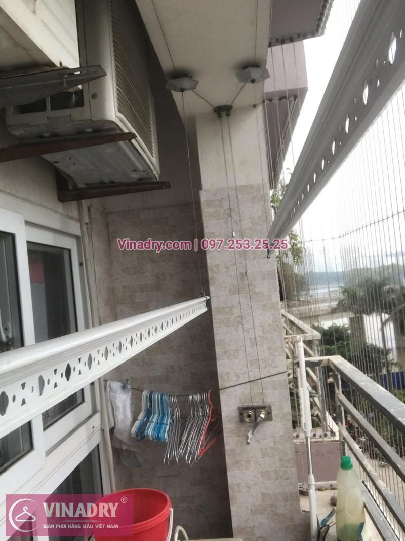 Vinadry lắp giàn phơi HP999B và thi công lưới an toàn ban công tại Linh Đàm cho nhà chú Vi - 07