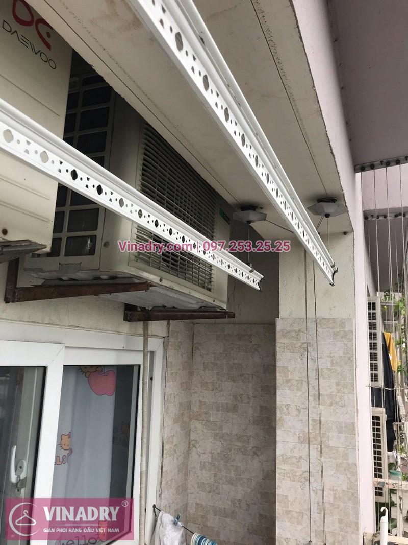 Vinadry lắp giàn phơi HP999B và thi công lưới an toàn ban công tại Linh Đàm cho nhà chú Vi - 08