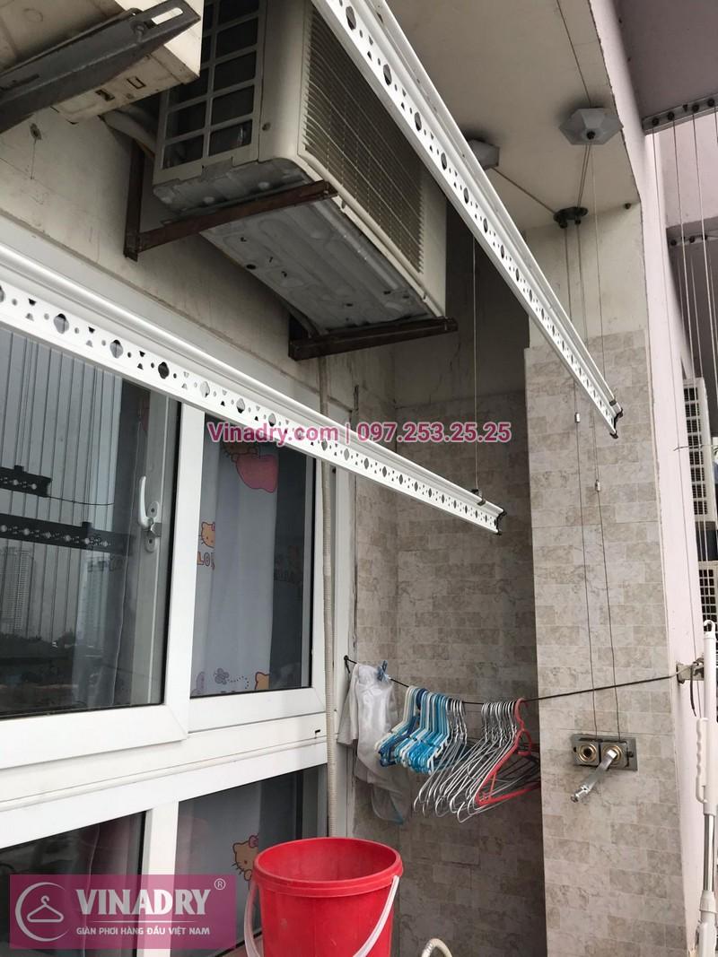 Vinadry lắp giàn phơi HP999B và thi công lưới an toàn ban công tại Linh Đàm cho nhà chú Vi - 09