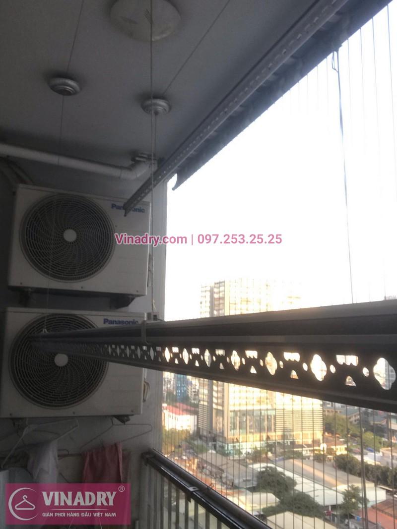 Vinadry lắp giàn phơi thông minh KS950 và lưới an toàn ban công tại Thanh Xuân, chung cư Nguyễn Tuân cho gia đình chị Mùi