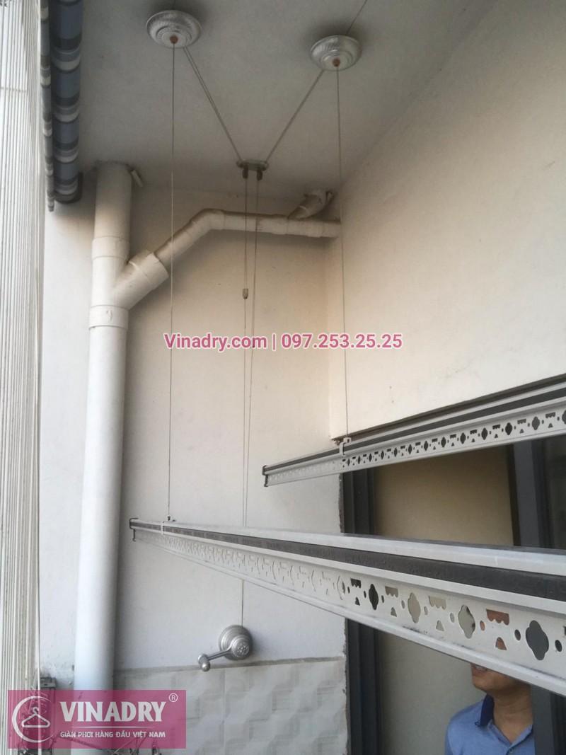 Vinadry lắp giàn phơi thông minh KS950 và lưới an toàn ban công tại Thanh Xuân, chung cư Nguyễn Tuân cho gia đình chị Mùi - 07