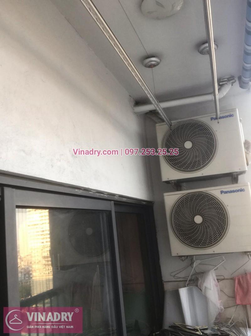 Vinadry lắp giàn phơi thông minh KS950 và lưới an toàn ban công tại Thanh Xuân, chung cư Nguyễn Tuân cho gia đình chị Mùi - 04