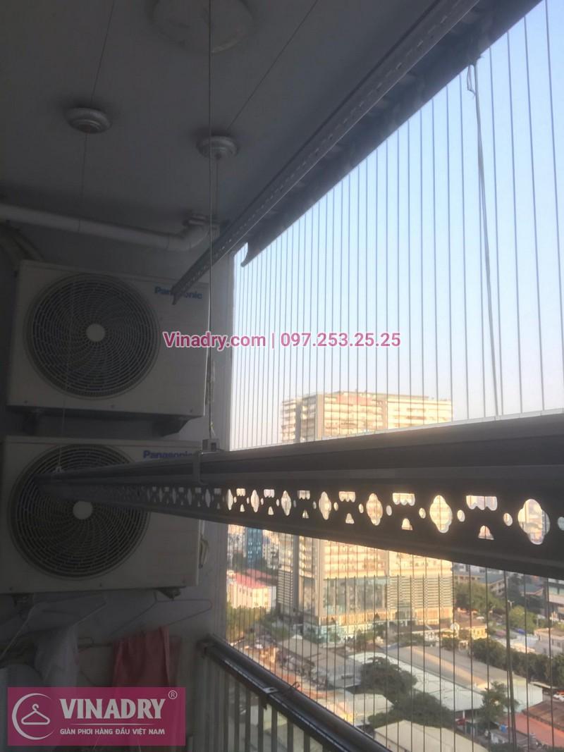 Vinadry lắp giàn phơi thông minh KS950 và lưới an toàn ban công tại Thanh Xuân, chung cư Nguyễn Tuân cho gia đình chị Mùi - 09
