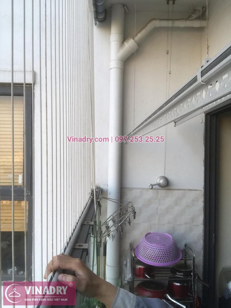 Vinadry lắp giàn phơi thông minh KS950 và lưới an toàn ban công tại Thanh Xuân, chung cư Nguyễn Tuân cho gia đình chị Mùi - 10
