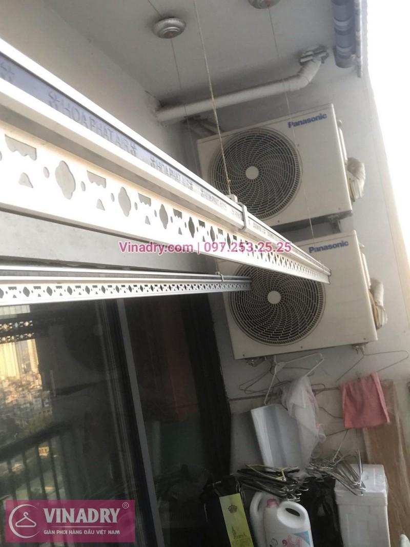 Vinadry lắp giàn phơi thông minh KS950 và lưới an toàn ban công tại Thanh Xuân, chung cư Nguyễn Tuân cho gia đình chị Mùi - 05