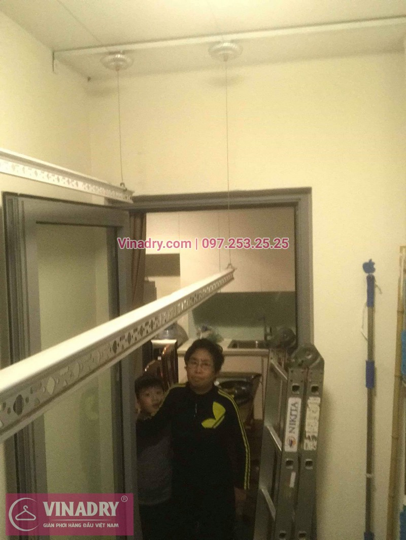 Vinadry lắp giàn phơi Hòa Phát KS950 tại ParkHill, Times City, căn hộ 0305 cho nhà cô Cẩm - 09
