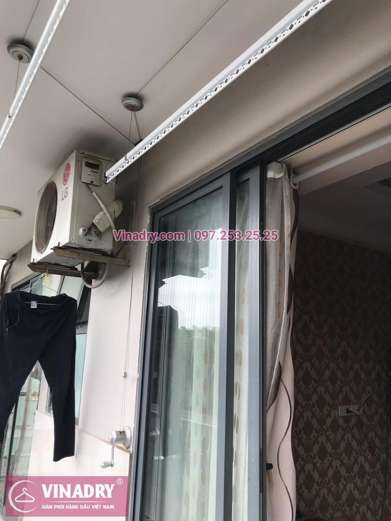 Vinadry lắp giàn phơi thông minh KS950 tại VP4 Linh Đàm, Hoàng Mai cho nhà cô Lộc