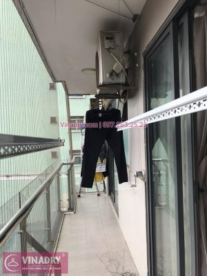 Vinadry lắp giàn phơi KS950 và lưới an toàn ban công tại VP4 Linh Đàm, Hoàng Mai cho nhà cô Lộc