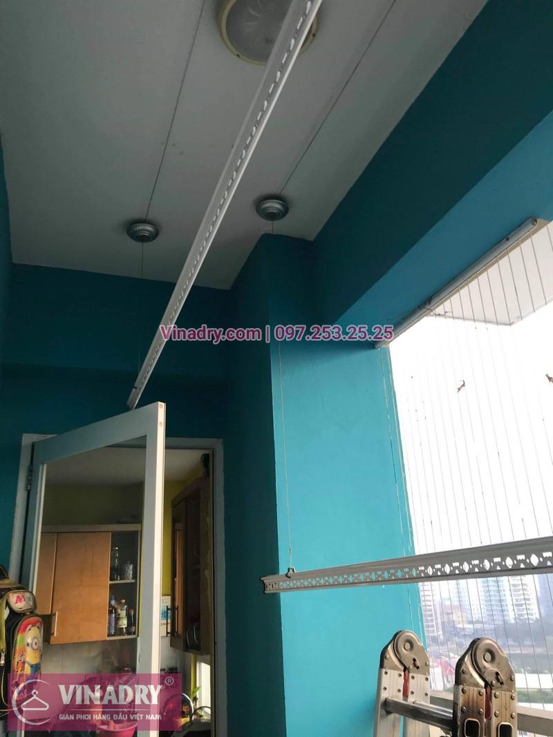 Vinadry lắp giàn phơi HB999B tại Long Biên cho nhà anh Tính tại căn 1107, chung cư Sunrise Building Sài Đồng - 05