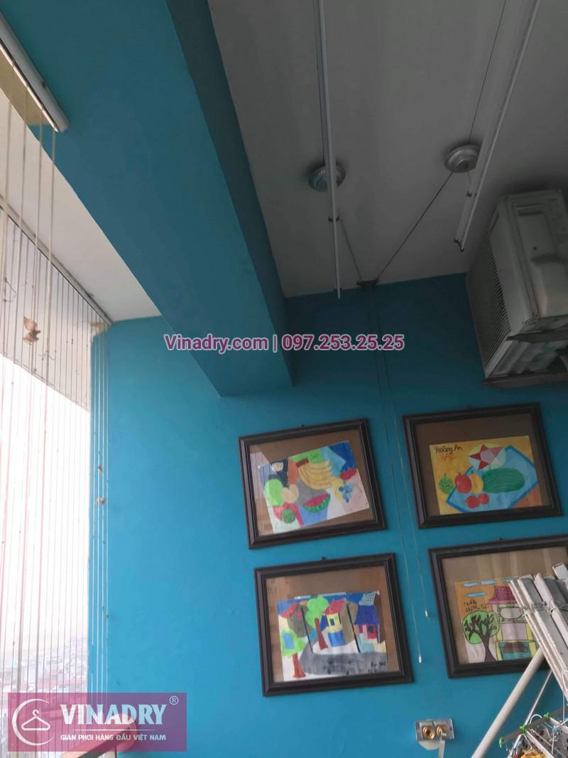 Vinadry lắp giàn phơi HB999B tại Long Biên cho nhà anh Tính tại căn 1107, chung cư Sunrise Building Sài Đồng - 06