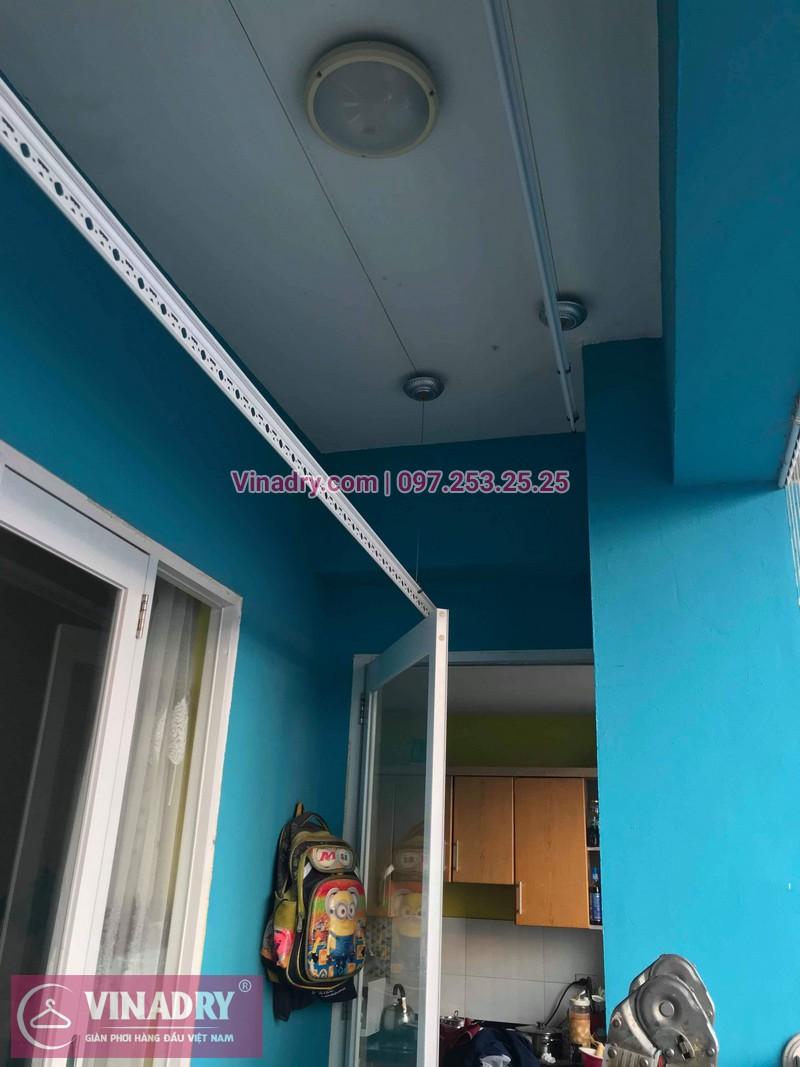 Vinadry lắp giàn phơi HB999B tại Long Biên cho nhà anh Tính tại căn 1107, chung cư Sunrise Building Sài Đồng - 08