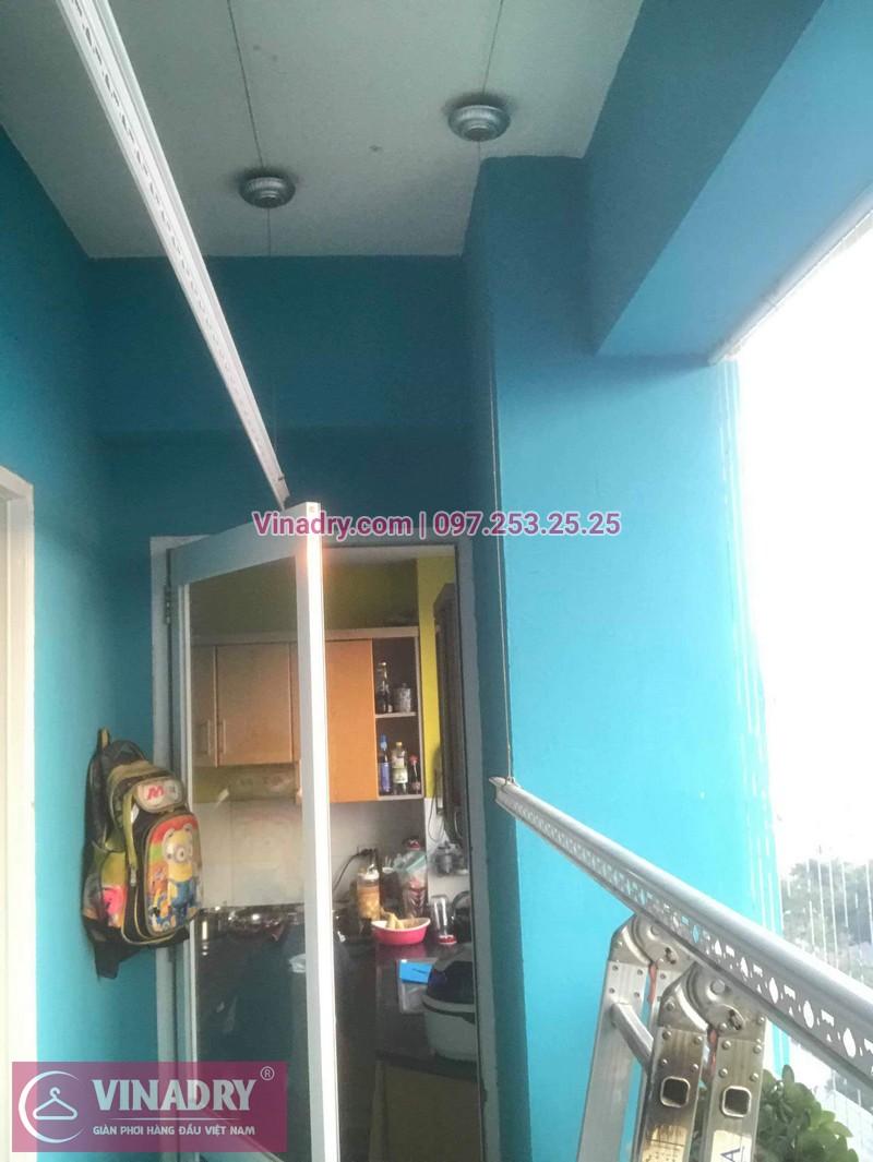 Vinadry lắp giàn phơi HB999B tại Long Biên cho nhà anh Tính tại căn 1107, chung cư Sunrise Building Sài Đồng - 09