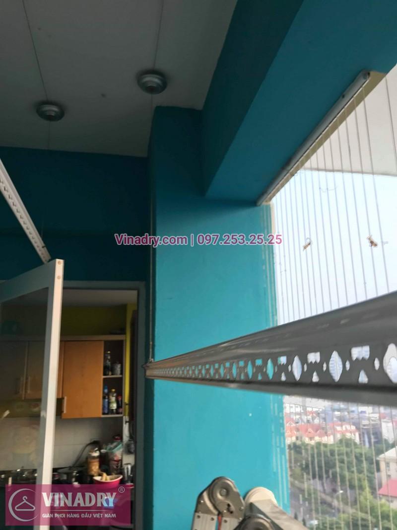 Vinadry lắp giàn phơi HB999B tại Long Biên cho nhà anh Tính tại căn 1107, chung cư Sunrise Building Sài Đồng