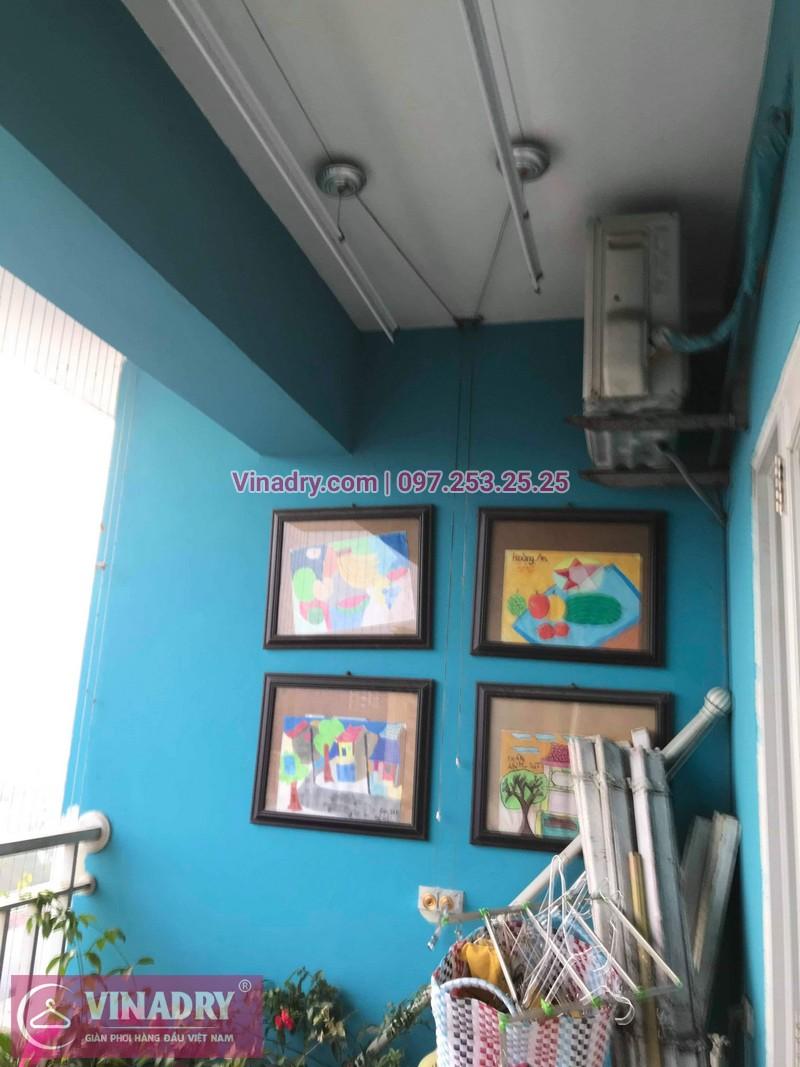 Vinadry lắp giàn phơi HB999B tại Long Biên cho nhà anh Tính tại căn 1107, chung cư Sunrise Building Sài Đồng - 02