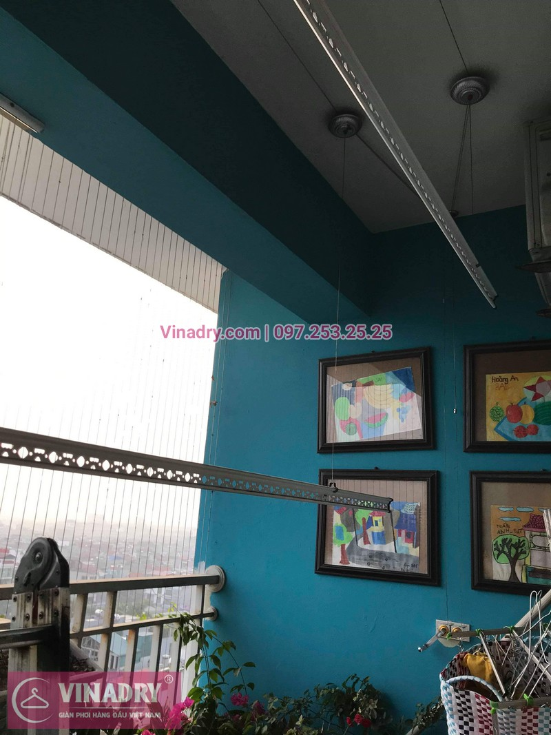 Vinadry lắp giàn phơi HB999B tại Long Biên cho nhà anh Tính tại căn 1107, chung cư Sunrise Building Sài Đồng - 03