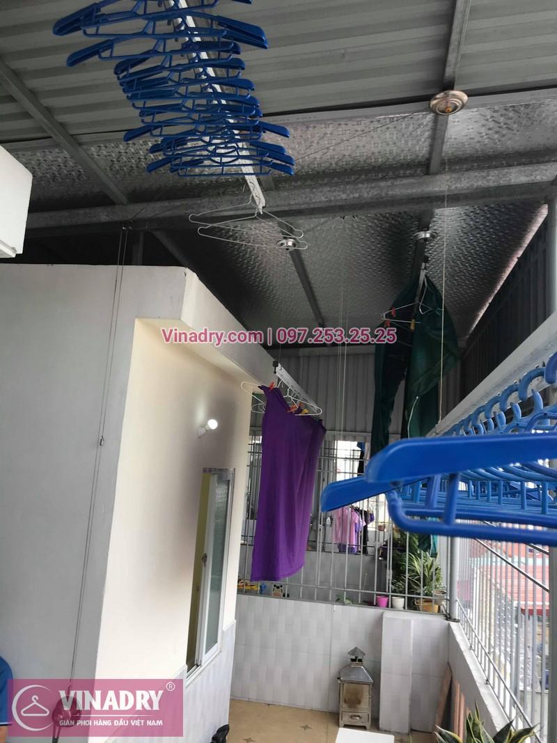 Vinadry lắp giàn phơi Hòa Phát HP701 tại phố Bồ Đề, quận Long Biên cho nhà chú Tự - 09