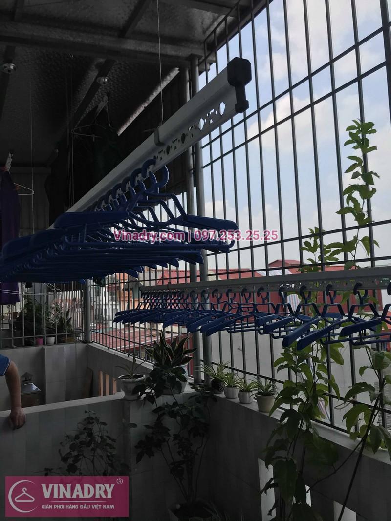 Vinadry lắp giàn phơi Hòa Phát HP701 tại phố Bồ Đề, quận Long Biên cho nhà chú Tự - 07