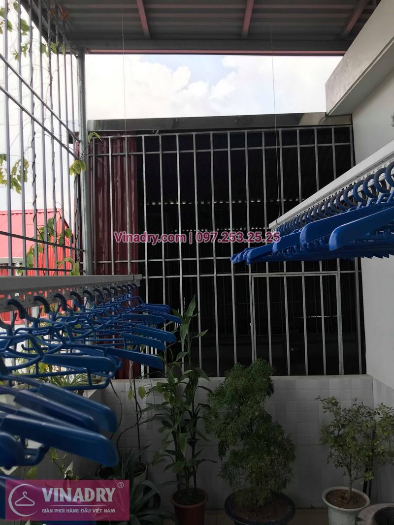 Vinadry lắp giàn phơi Hòa Phát HP701 tại phố Bồ Đề, quận Long Biên cho nhà chú Tự - 06