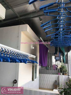 Vinadry lắp giàn phơi Hòa Phát HP701 tại phố Bồ Đề, quận Long Biên cho nhà chú Tự