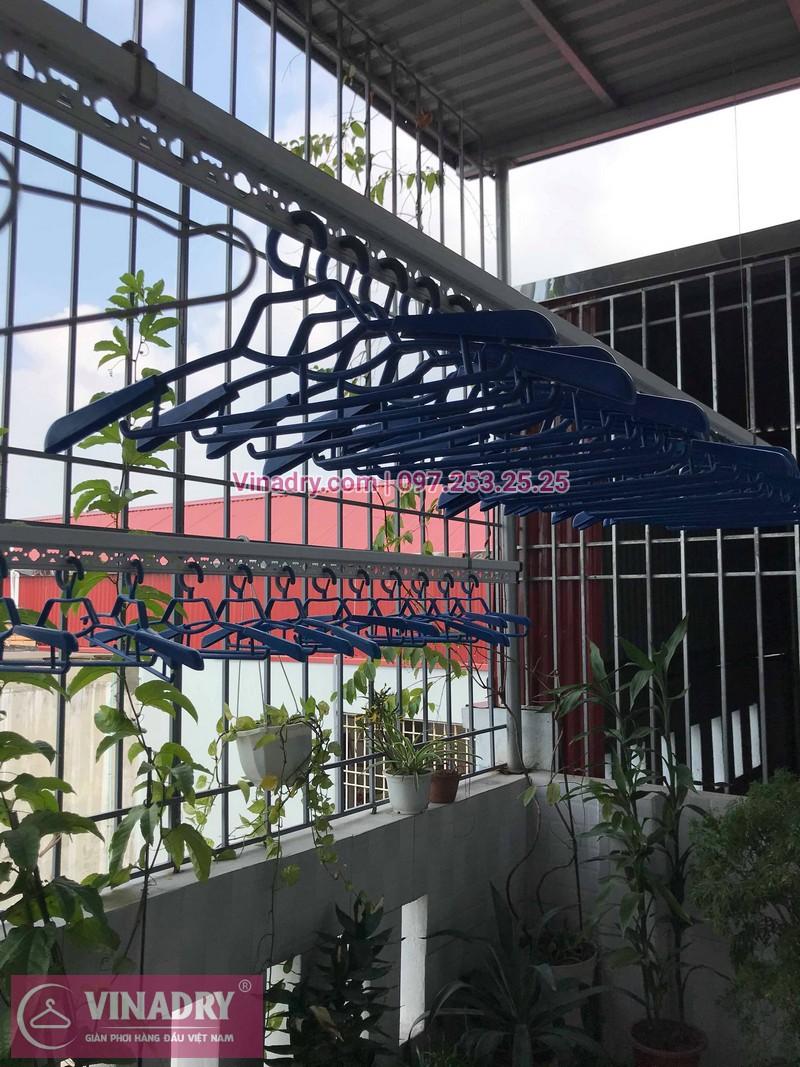 Vinadry lắp giàn phơi Hòa Phát HP701 tại phố Bồ Đề, quận Long Biên cho nhà chú Tự - 02