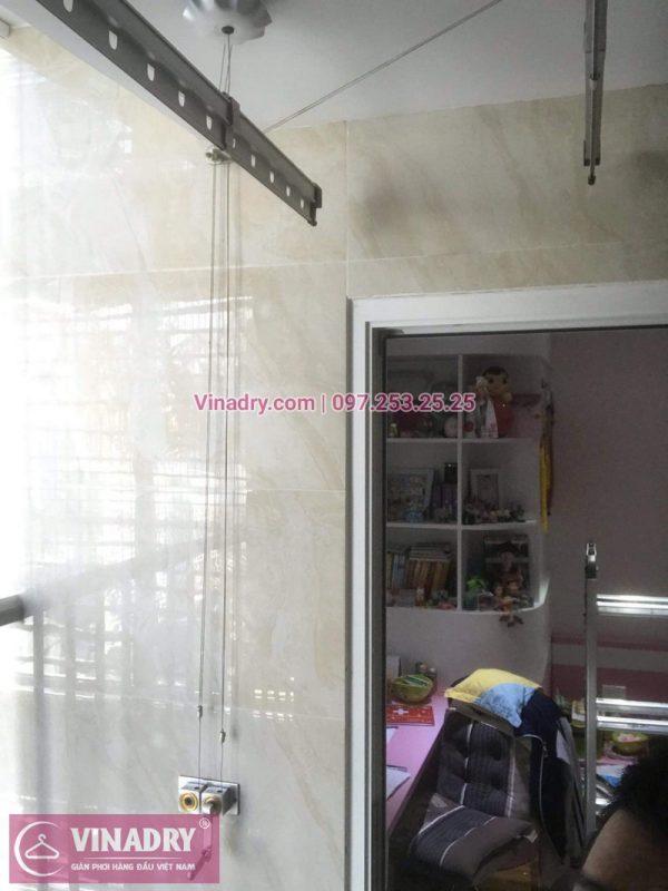 Vinadry lắp giàn phơi thông minh Cầu Giấy, lắp giàn phơi giá rẻ Hòa Phát HP999B cho nhà cô Tâm tại 138 Trần Bình, chung cư Mỹ Đình, Cầu Giấy
