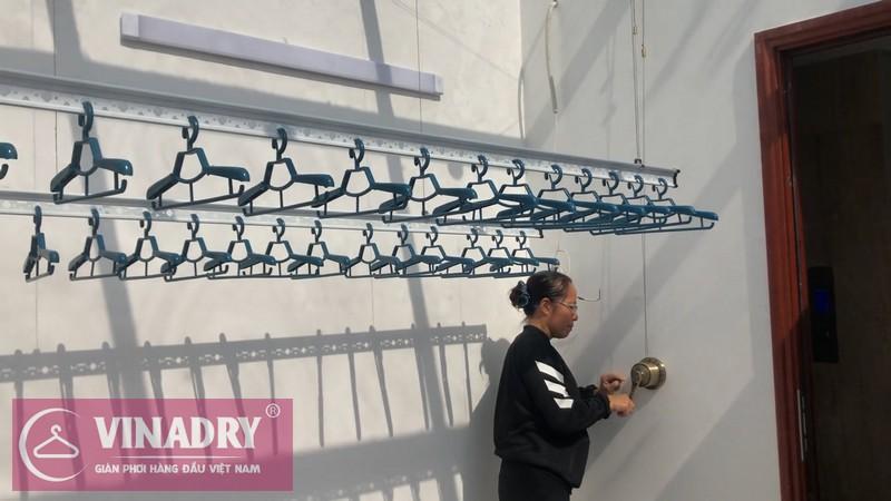 Vinadry lắp giàn phơi thông minh GP941 tại khu biệt thự Nguyệt Quế - Vinhomes Riverside Long Biên cho nhà chị Ngân