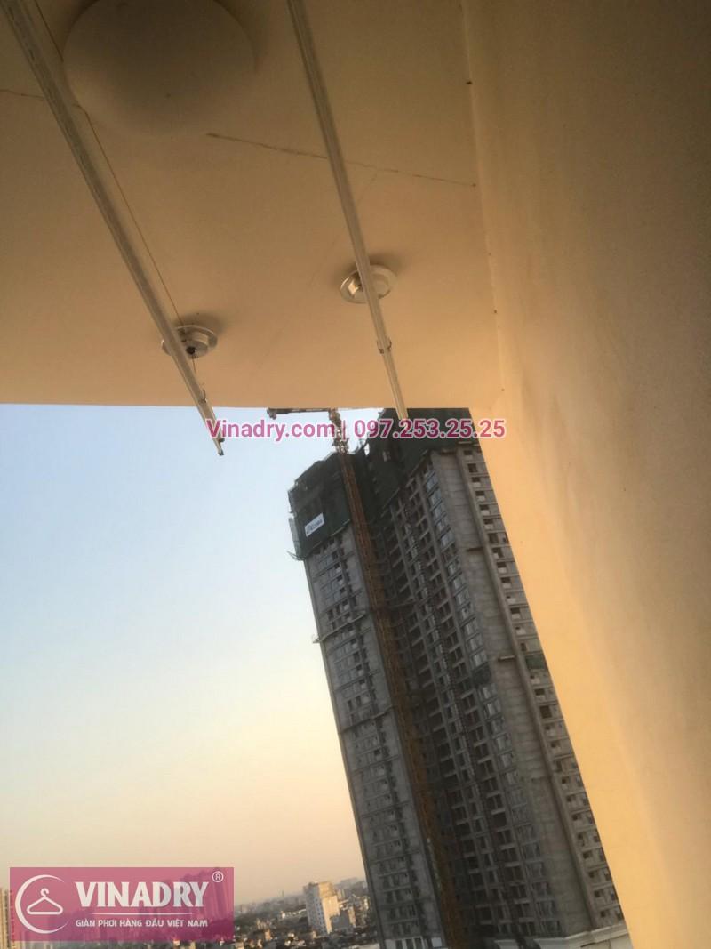 Vinadry lắp giàn phơi thông minh HP701 tại Royal City, căn 1010, tòa R5A cho gia đình anh Ký - 11