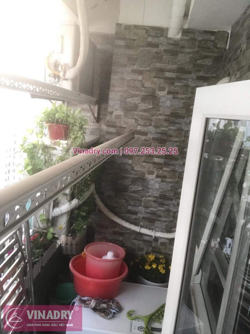Vinadry lắp giàn phơi thông minh KS950 tại chung cư HH Linh Đàm cho nhà chú Tới - 01