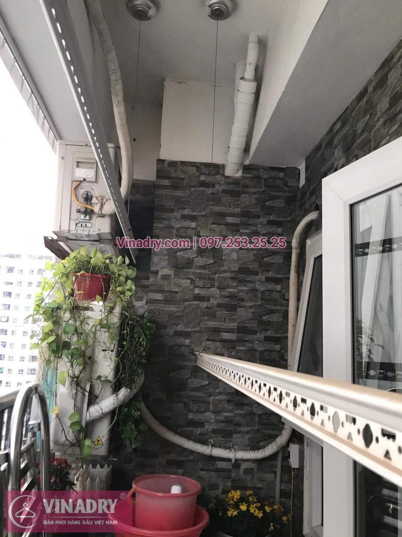 Vinadry lắp giàn phơi thông minh KS950 tại chung cư HH Linh Đàm cho nhà chú Tới - 07