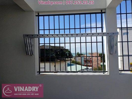 Vinadry lắp giàn phơi xếp ngang gắn tường tại Thạch Bàn, Long Biên cho nhà chị Hải