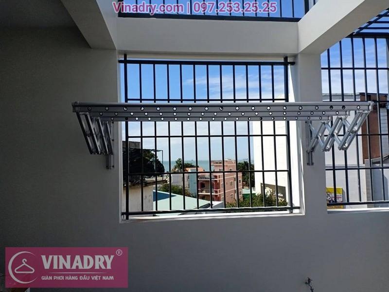 Vinadry lắp giàn phơi xếp ngang gắn tường tại Thạch Bàn, Long Biên cho nhà chị Hải - 01