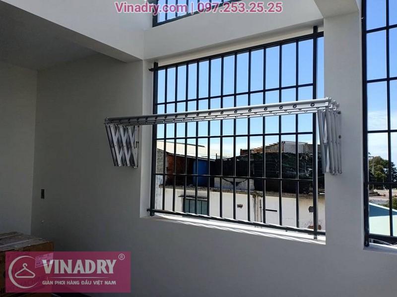 Vinadry lắp giàn phơi xếp ngang gắn tường tại Thạch Bàn, Long Biên cho nhà chị Hải - 02