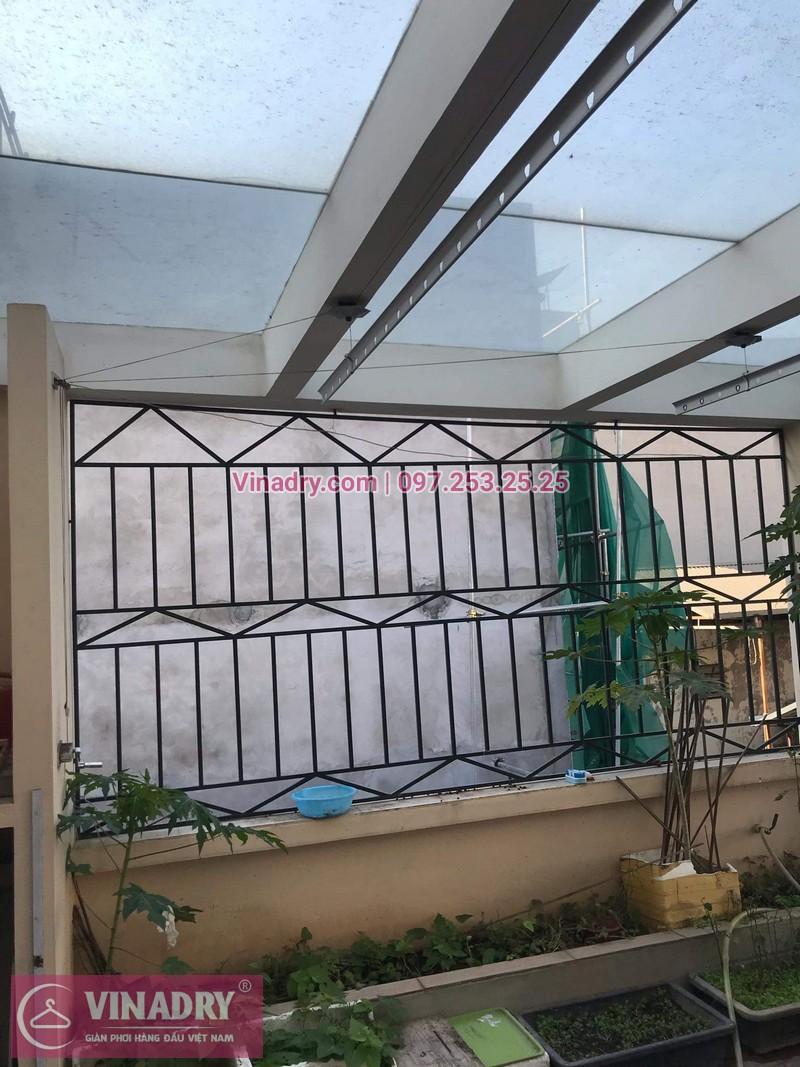 Vinadry sửa chữa giàn phơi Hà Nội giá rẻ, thay 2 dây cáp giàn phơi chất lượng tại 112 Hoàng Quốc Việt, Bắc Từ Liêm cho nhà cô Hà - 06