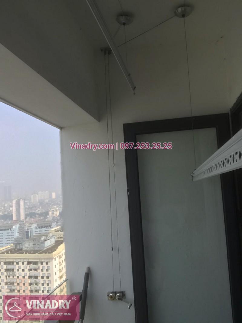 Vinadry thay bộ tời giàn phơi HP999B tại chung cư 90 Nguyễn Tuân, Thanh Xuân cho nhà anh Lực - 01