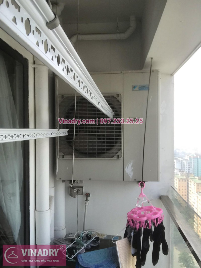 Vinadry thay bộ tời giàn phơi HP999B tại chung cư 90 Nguyễn Tuân, Thanh Xuân cho nhà anh Lực - 03