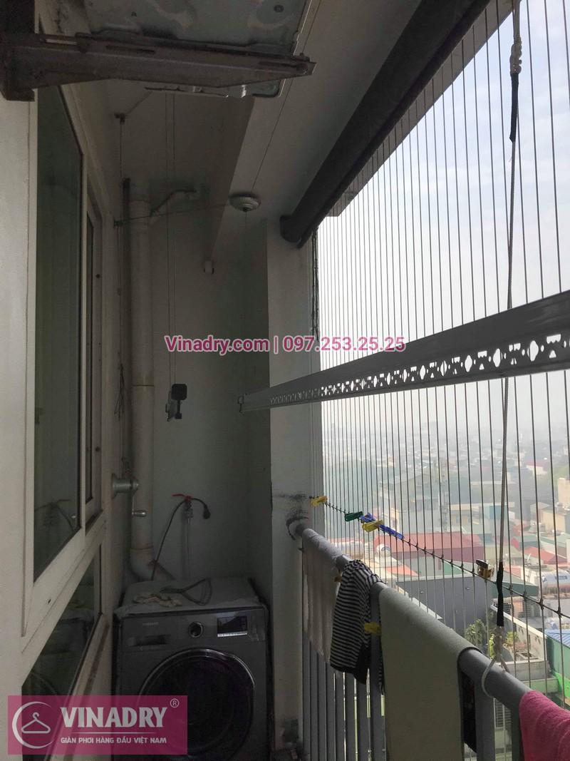 Vinadry thay bộ tời giàn phơi KS950 cho nhà anh Tạo tại chung cư 25 Tân Mai, quận Hoàng Mai - 04