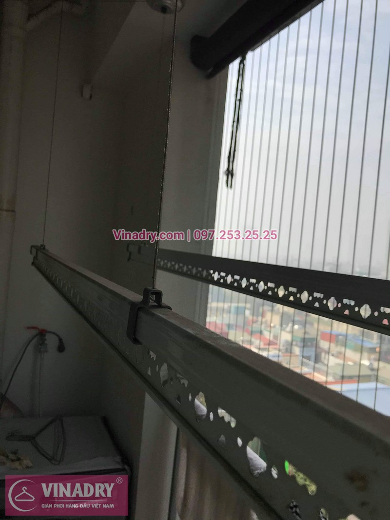 Vinadry thay bộ tời giàn phơi KS950 cho nhà anh Tạo tại chung cư 25 Tân Mai, quận Hoàng Mai - 05
