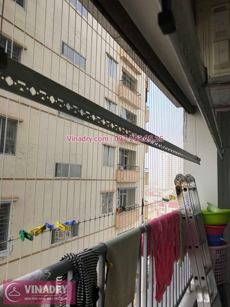 Vinadry thay bộ tời giàn phơi KS950 cho nhà anh Tạo tại chung cư 25 Tân Mai, quận Hoàng Mai - 09