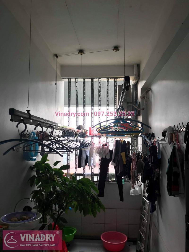 Vinadry thay 2 dây cáp giàn phơi giá rẻ cho nhà anh Phong tại căn 903 nhà A2, KĐT Mỹ Đình 1, Nguyễn Cơ Thạch, Nam Từ Liêm - 01