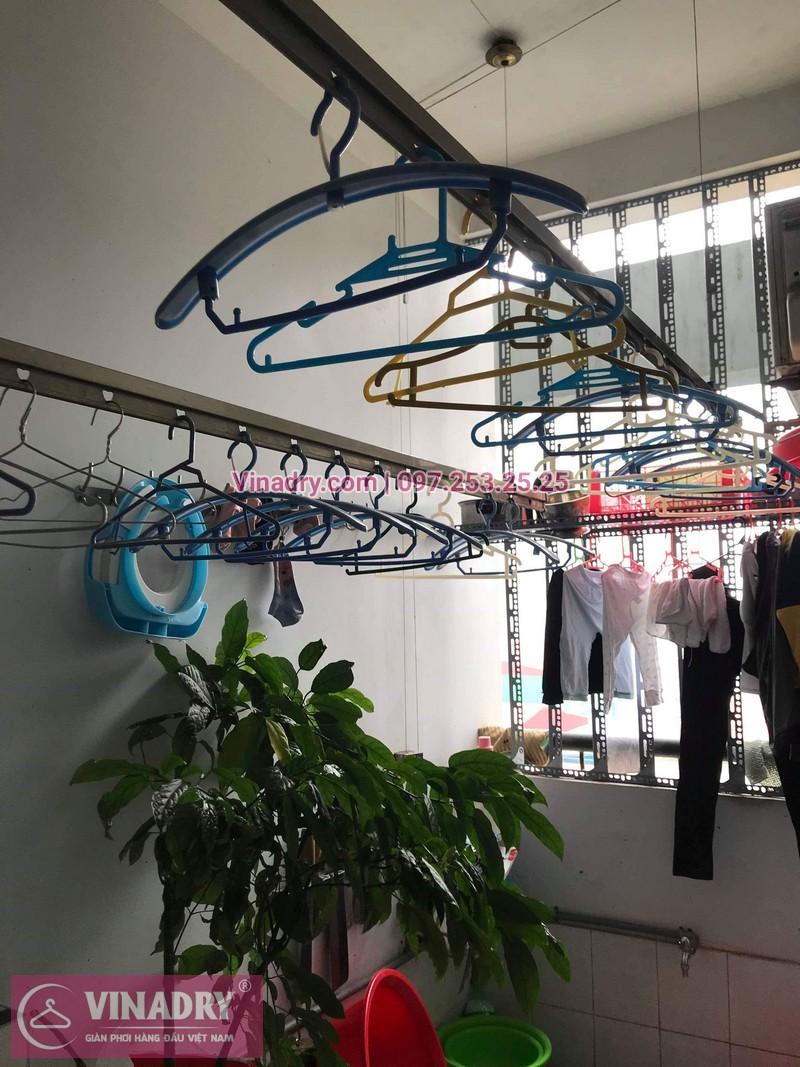 Vinadry thay 2 dây cáp giàn phơi giá rẻ cho nhà anh Phong tại căn 903 nhà A2, KĐT Mỹ Đình 1, Nguyễn Cơ Thạch, Nam Từ Liêm - 02